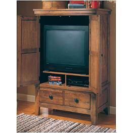 3397 67s Broyhill Furniture 62in Entertainment Console Stain
