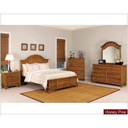 1656 93q1 Wynwood Furniture Queen Panel Bed Honey Pine