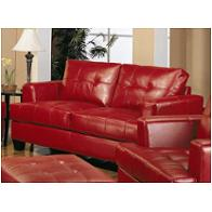501832 Coaster Furniture Samuel - Red Living Room Furniture Loveseats