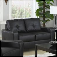 502722 Coaster Furniture Jasmine - Black Living Room Furniture Loveseats