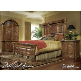 53014t 24 Aico Furniture Eastern King Mantel Bed