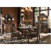 67001-52 Aico Furniture Oppulente Sienna Spice Dining Room Furniture Dining Tables