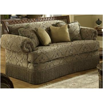 56825 Pewtr 25 Aico Furniture Wood Trim Bullion Skirt Loveseat