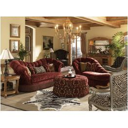 63815 merlo 00 aico furniture trevi bullion skirt tufted sofa for Aico trevi leather armless chaise in brown