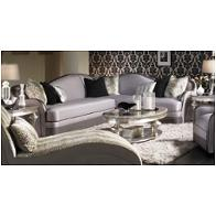 03823-silvr-00 Aico Furniture Hollywood Swank Living Room Furniture Loveseats