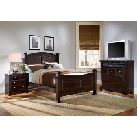 Vaughan Bassett Furniture Hamilton Franklin Merlot