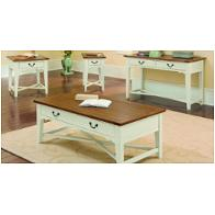 135-094 Vaughan Bassett Furniture Elizabeth - White/oak Living Room Furniture Sofa Tables