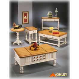 T402 4 Ashley Furniture Sofa Table Btrmlk Light Brown Finish