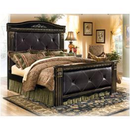 b175 58 ashley furniture king upholster mansion panel bed