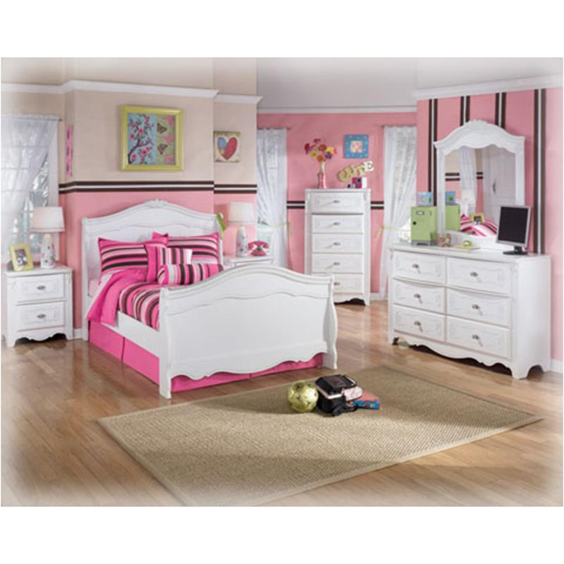 B188 26 Ashley Furniture Exquisite White Bedroom Bed