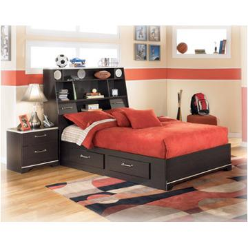 B151 87 ashley furniture full captains bookcase bed with for Furniture zone beds