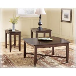 T134-13 Ashley Furniture Abram Living Room Furniture Occasional Table Set
