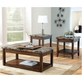 T  Ashley Furniture Theo Living Room Occasional Table Set