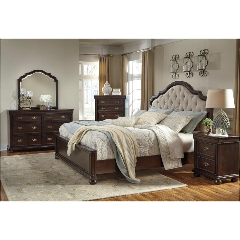 B596 57 Ashley Furniture Moluxy Dark Brown Bedroom Bed
