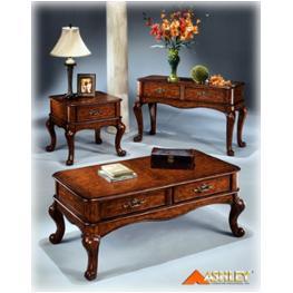 T417 4 Ashley Furniture Lambert Sofa Table Rustic Brown Finish