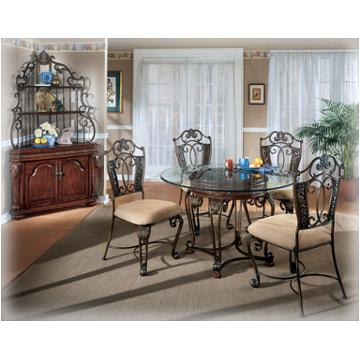 D396 15 Ashley Furniture Opulence Ii Dining Room Glass Top Table