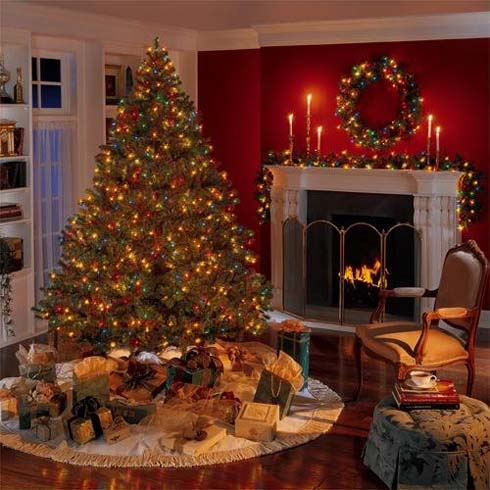 Delightful Room Decorations For Christmasbest Image 2017   Christmas Living Room  Decorating Ideas