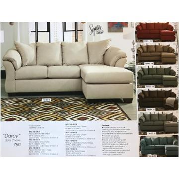 Admirable 7500018 Ashley Furniture Darcy Stone Sofa Chaise Clearance Creativecarmelina Interior Chair Design Creativecarmelinacom