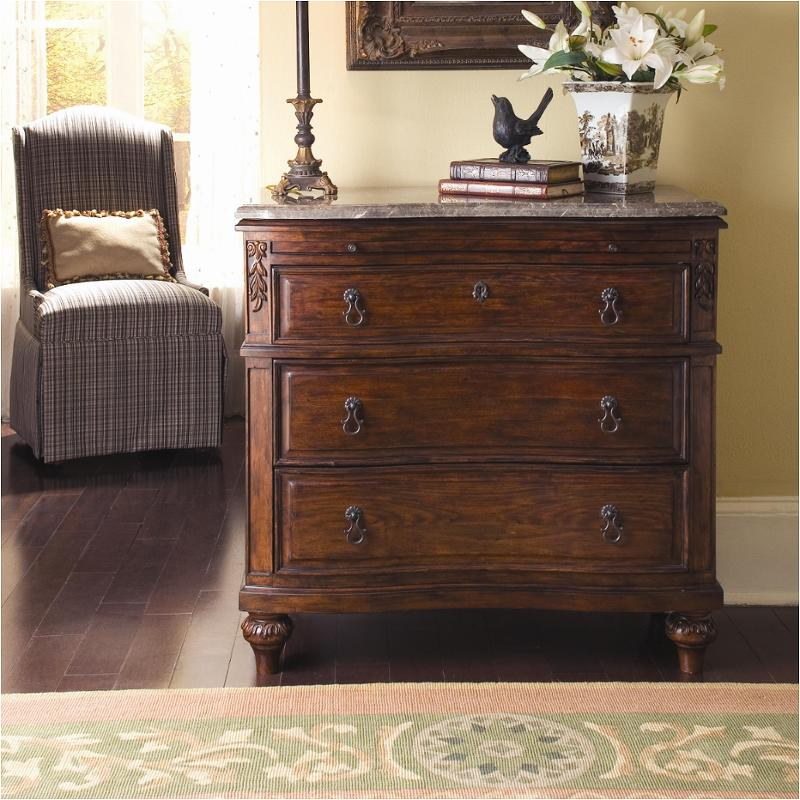 80143m kincaid furniture bachelor chest with marble topsienna brown