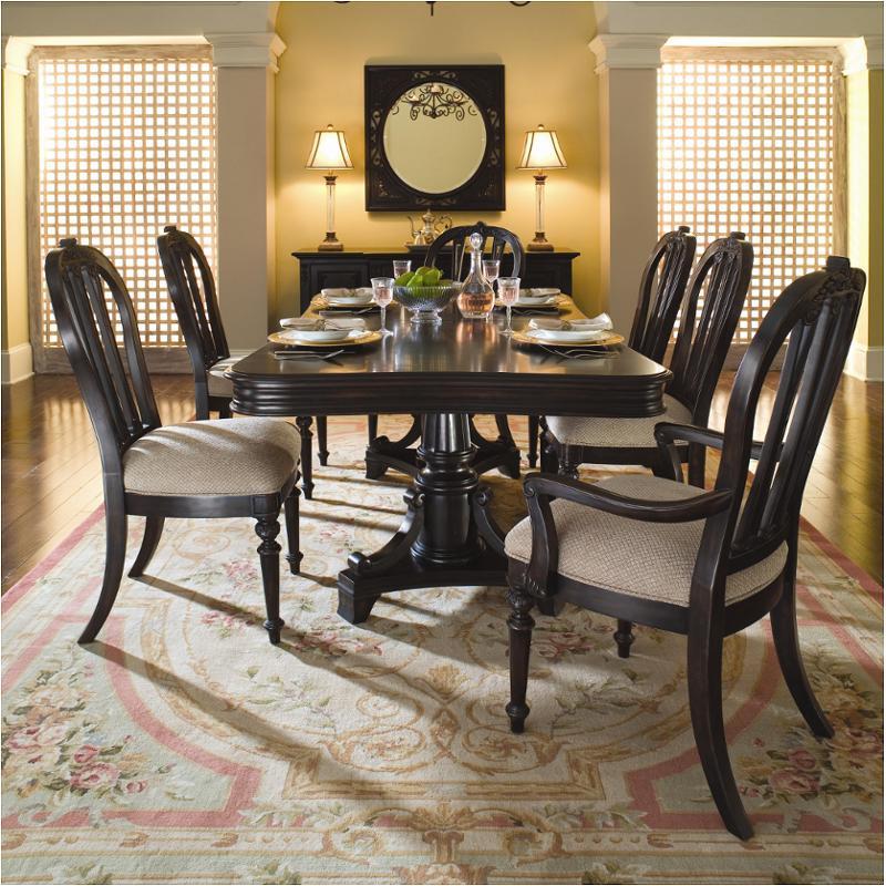 Kincaid Dining Room: 82-057t Kincaid Furniture Pedestal Dining Table-onyx Black