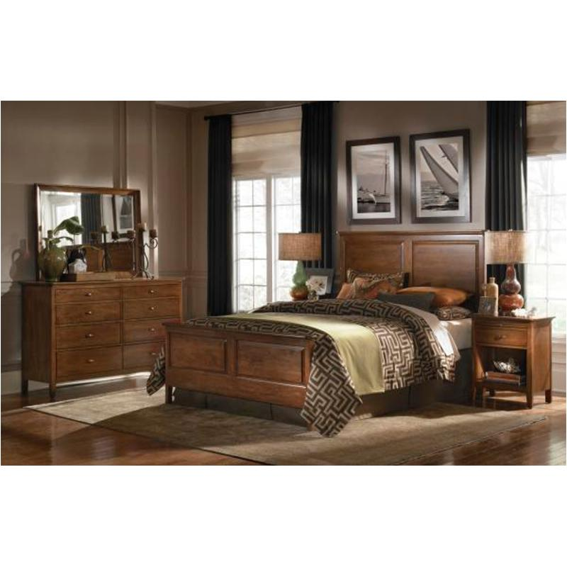 63-135hv Kincaid Furniture Cherry Park Queen Panel Bed