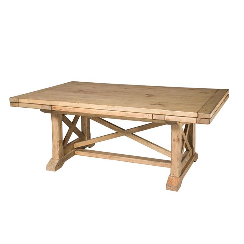 33-054t Kincaid Furniture Homecoming - Pine Refractory Trestle Table-pine