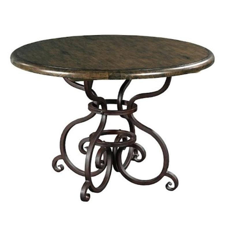 90 2159 Kincaid Furniture 44in Round Table With Metal Base