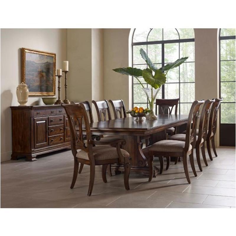 95-054t Kincaid Furniture Portolone Carusso Trestle Table