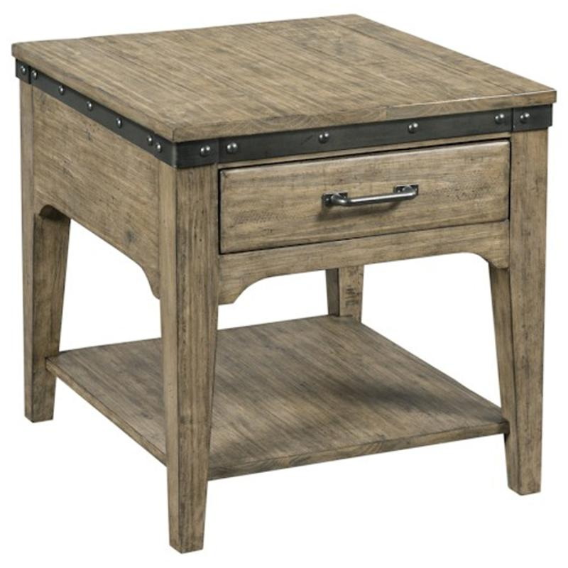 706 915s Kincaid Furniture Plank Road Artisans Rectangular Drawer End Table