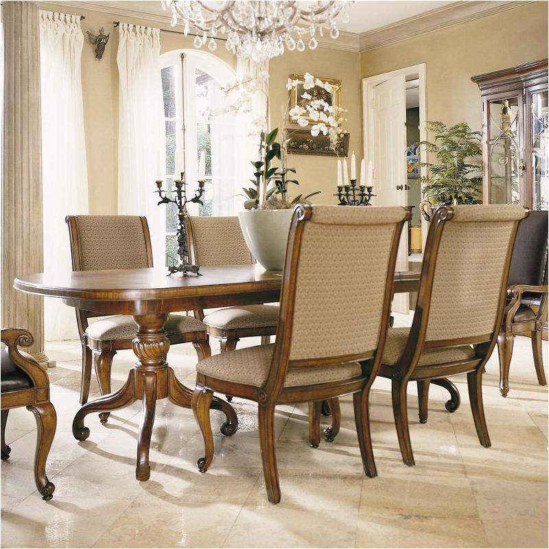 American Drew Dining Room Furniture: 582-744 American Drew Furniture Double Pedestal Dining Table