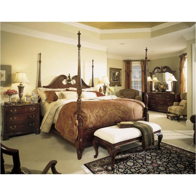 791-378 American Drew Furniture Eastern King Pediment Poster Bed