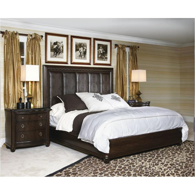 308-316 American Drew Furniture Bob Mackie Home Eastern King Croc Panel Bed  With Platform Fb