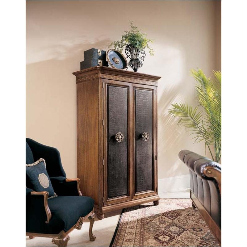 581 272 American Drew Furniture Bob Mackie Home Classics Armoire With Crocodile Leather Door Fronts