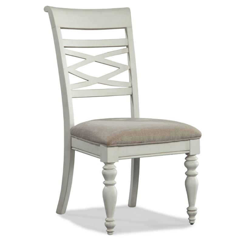 1520 240 Legacy Classic Furniture Glen Cove   Weathered White Dining Room  Dining Chair
