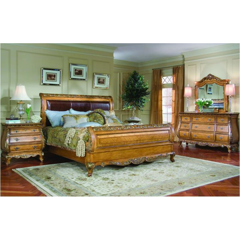 625-4305c Legacy Classic Furniture Queen Leather Sleigh Bed