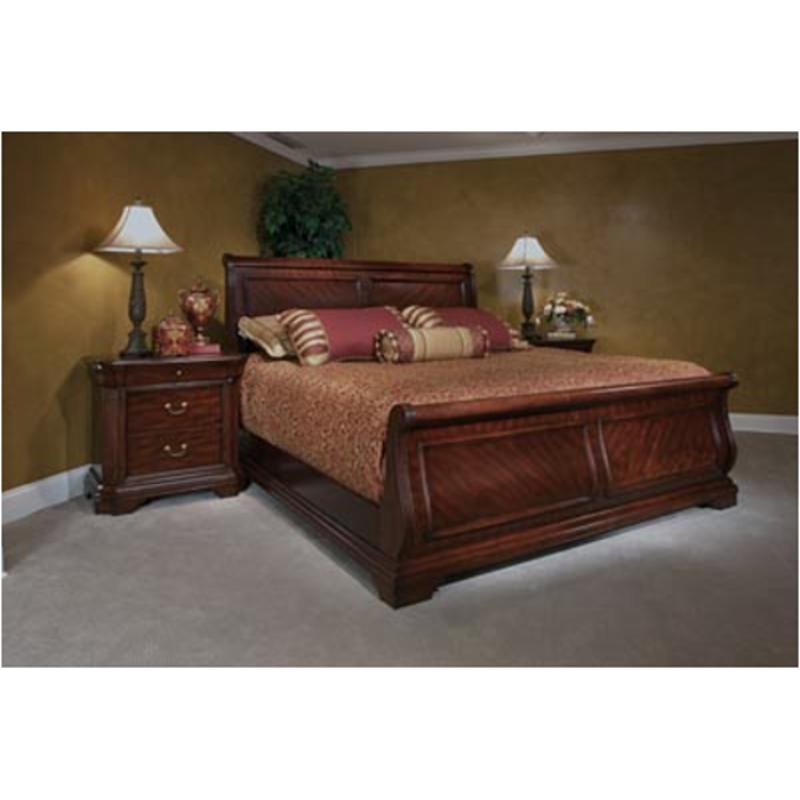 4145 54 broyhill furniture chateau calais queen sleigh bed for Broyhill bedroom furniture discontinued