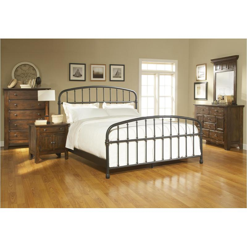 4397-83 Broyhill Furniture Queen Metal Bed - Stain