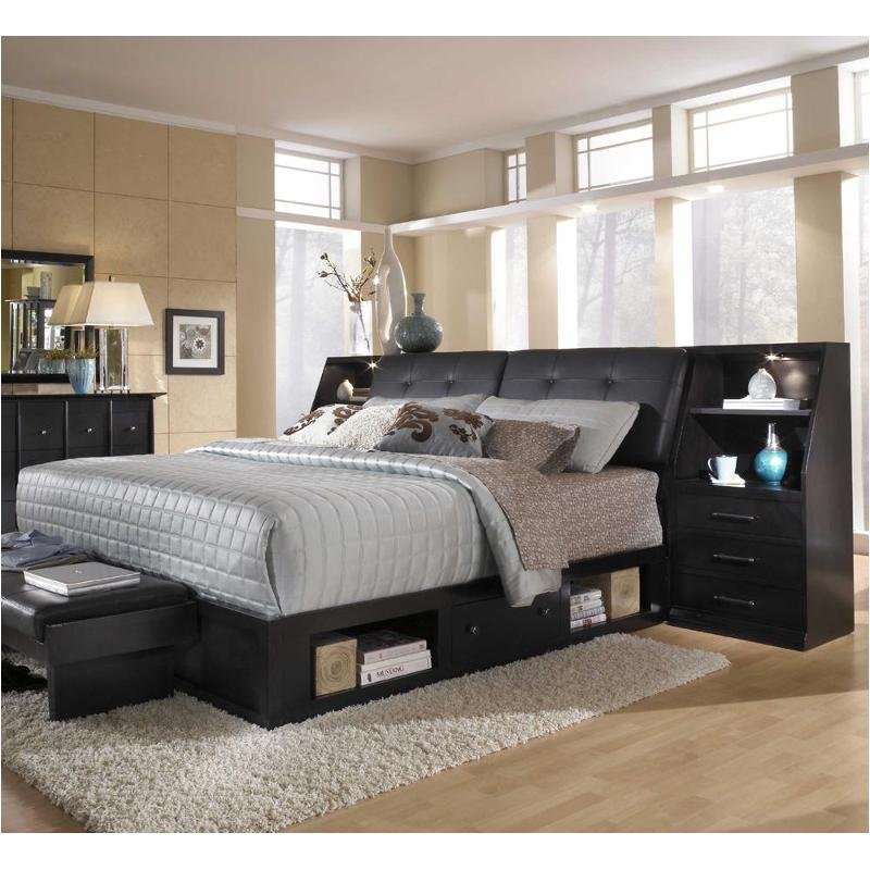 4444 258 broyhill furniture queen leather storage bed for L furniture warehouse queen