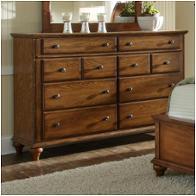 4645 230 Broyhill Furniture Hayden Place   Golden Oak Finish Bedroom Dresser