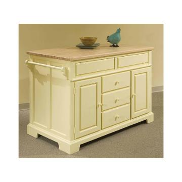 5209-505 broyhill furniture kitchen island - canary
