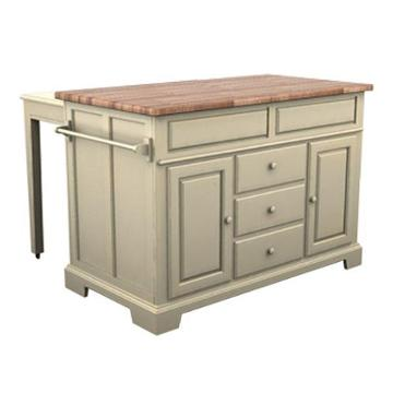 5207-505 broyhill furniture kitchen island - buttermilk