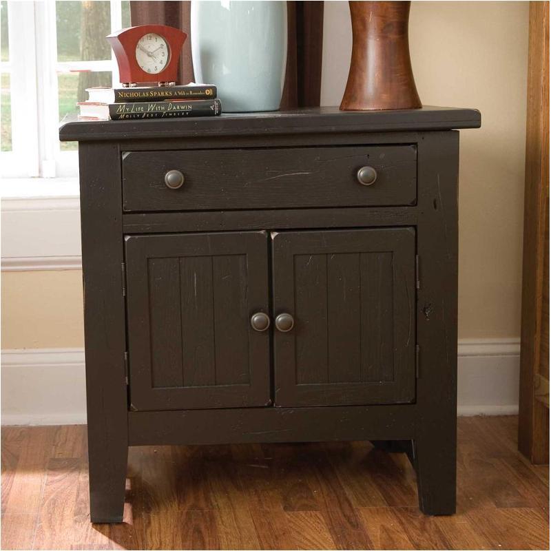 4397 93b Broyhill Furniture Door Night Stand Black