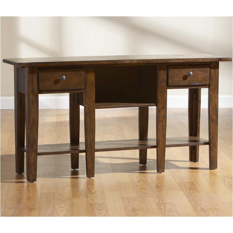 3399 09v Broyhill Furniture Attic Heirlooms Rustic Oak Living Room Sofa Table