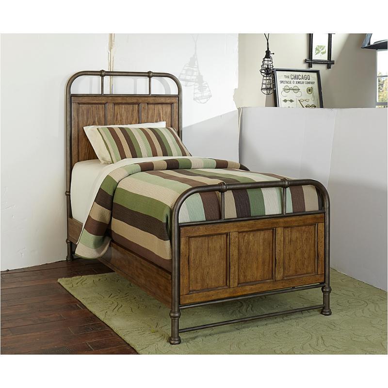 4808 249 Broyhill Furniture Twin Metal Wood Bedstead Footboard