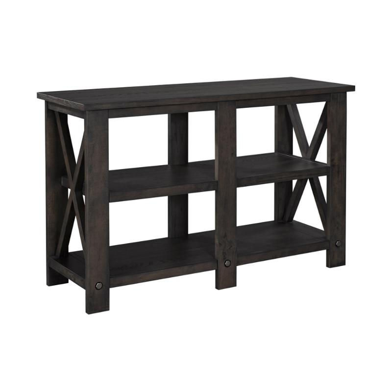 4547 020nut broyhill furniture 50 inch small console table for Sofa table 50 inches