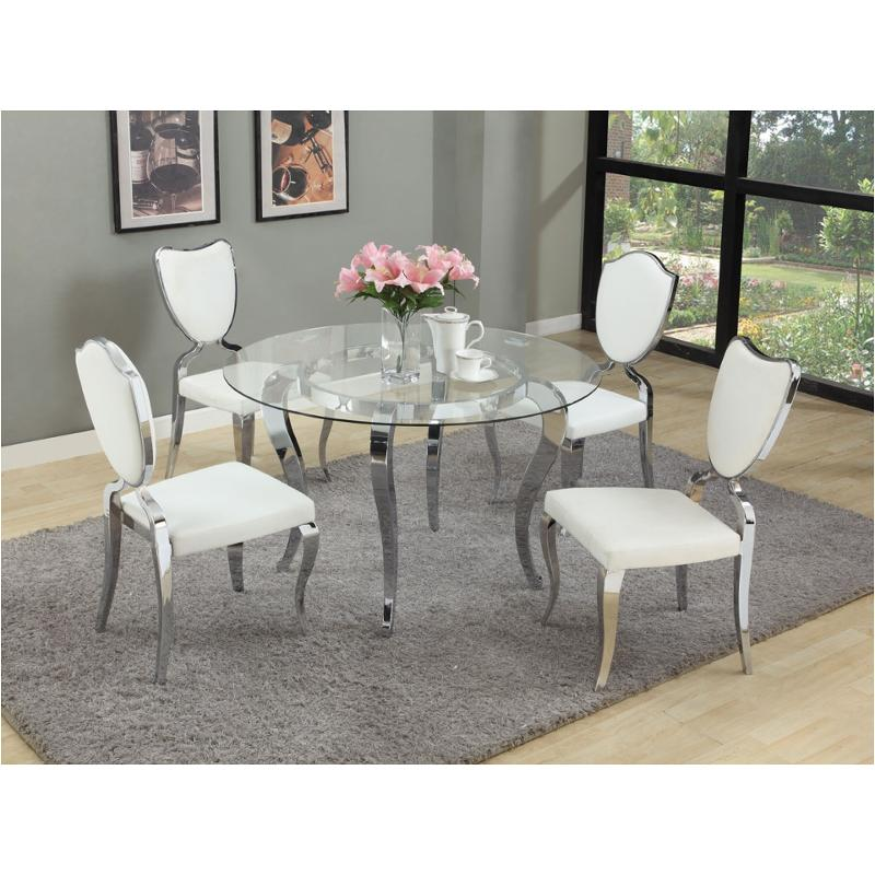 Letty-gl48-t Chintaly Imports Furniture Letty Table With Clear Glass Top
