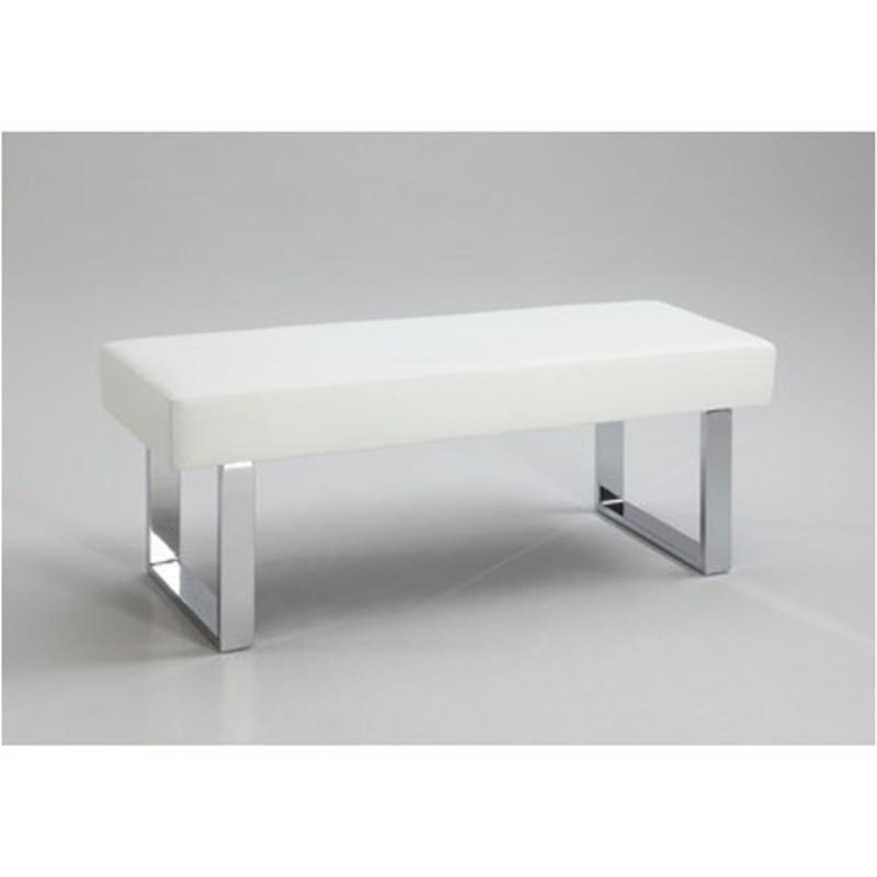 Ashley Furniture In Linden Nj: Linden-bch-wht Chintaly Imports Furniture White Pu Long Bench