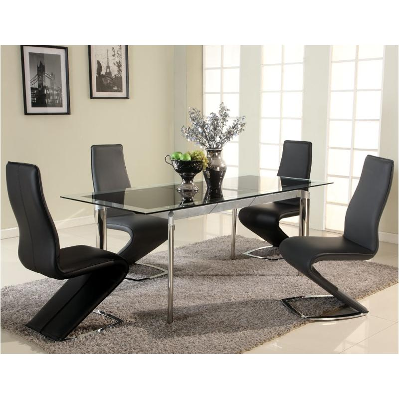 Beau Tara Dt Blk Chintaly Imports Furniture Tara Dining Room Dinette Table