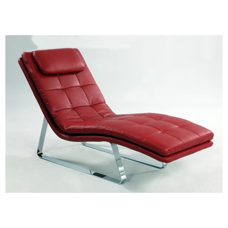Corvette Lng Red Chintaly Imports Furniture Chaise Lounge