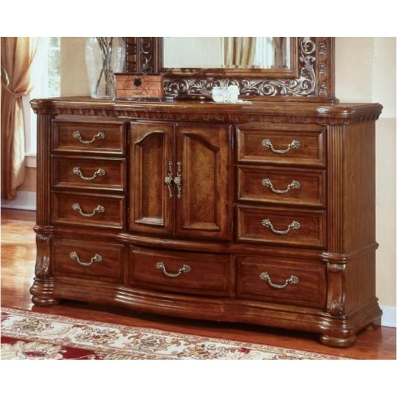 1635 62 Flexsteel Wynwood Furniture Cordoba   Burnished Pine Bedroom Dresser